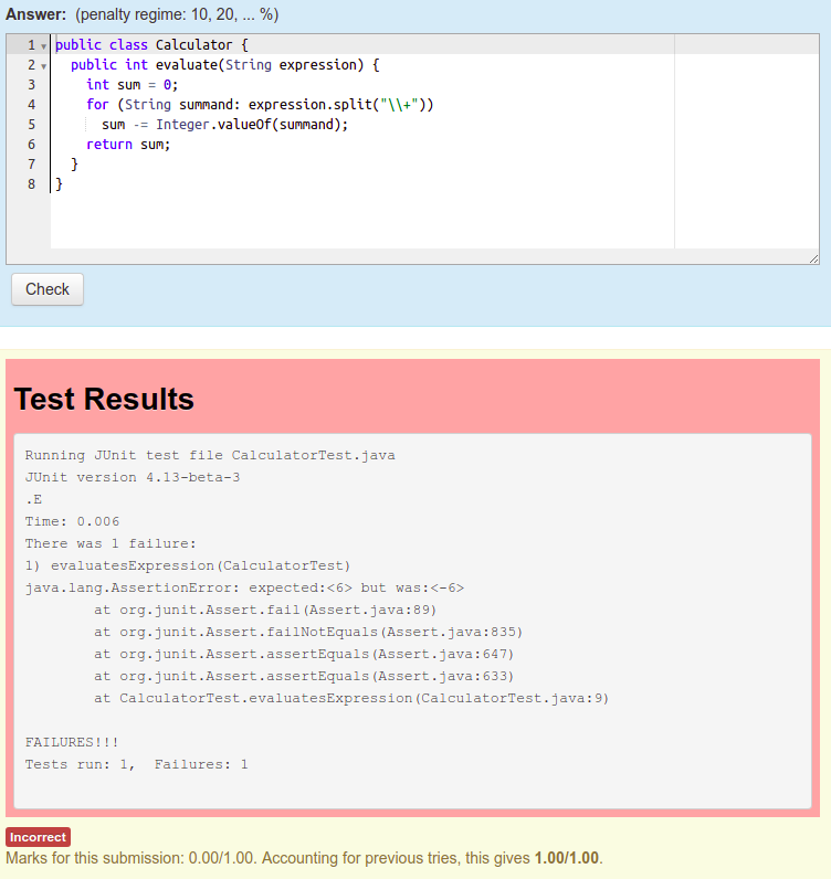 CodeRunner: Junit Test with CodeRunner