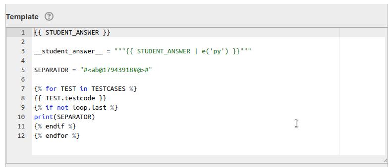 Python3 template